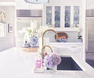 flowers, kitchen, and home image