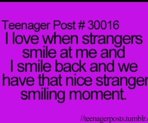 teenager post, strangers, and smile image