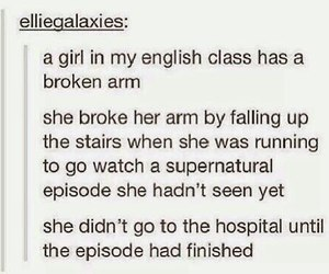 supernatural, funny, and tumblr image