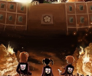 crossover, love live, and attack on titan image