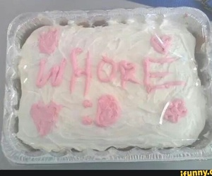 cake, pink, and whore image