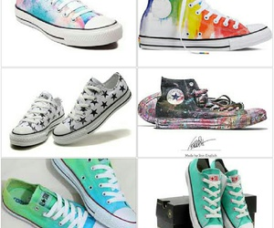 converse, shoes, and stars image