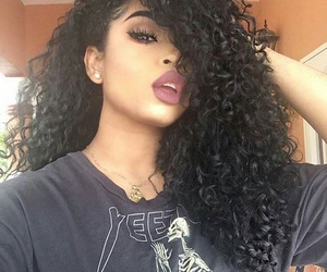curly hair and pretty image