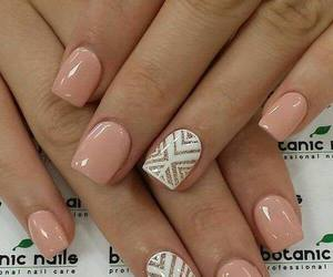 nails, white, and pink image