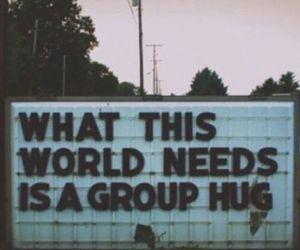 hug world love image