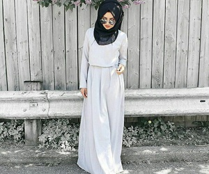 hijab, fashion, and stylé image