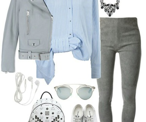 backpack, outfit, and blue image