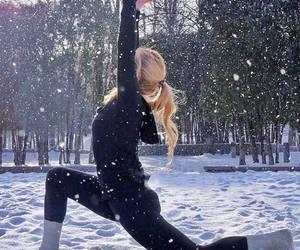 happy, yoga, and yoga girl image