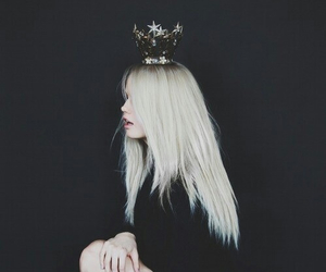 girl, Queen, and black image