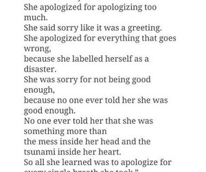 apologize, mess, and she image