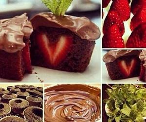 strawberry, chocolate, and cupcake image