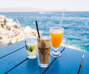 sea, drink, and summer image