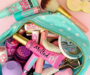 makeup, lipstick, and eos image