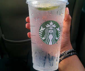 starbucks, water, and drink image