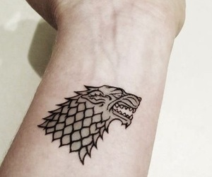 tattoo, winter is coming, and game of thrones image