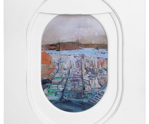 art, window, and city image