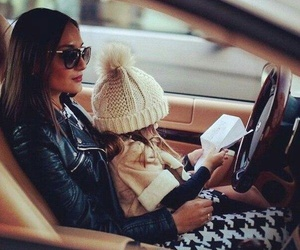 car, baby, and daughter image