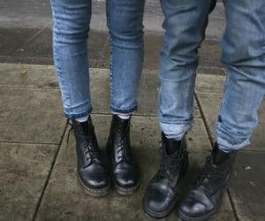 grunge, jeans, and boots image