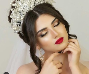 hair, makeup, and عروس image