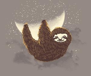 adorable, animal, and moon image