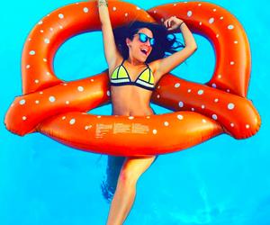 bikini, triangle, and pool image