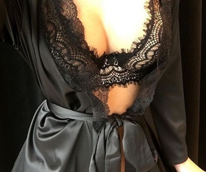 lingerie, style, and black image