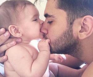 baby, guy, and hug image