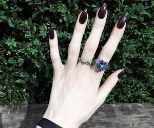 nails, alternative, and goth image
