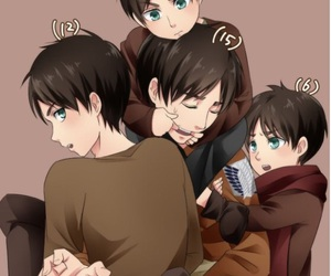 anime, shingeki no kyojin, and eren jaeger image