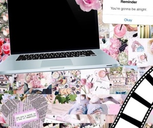 collages, editing, and pink image