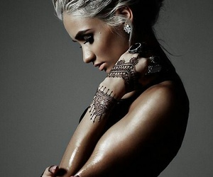 tattoo, hair, and henna image