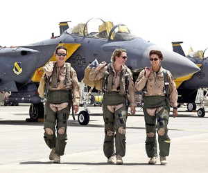air force, airplane, and girl power image