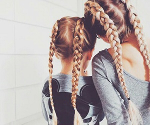 braided, 👯, and sisters image