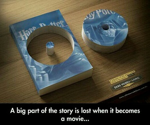 book, movie, and harry potter image