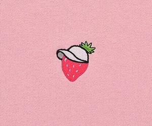 strawberry, pink, and aesthetic image