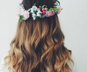 blonde hair, tiara, and hair goals image