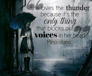 anime, quote, and rain image