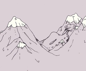 mountains, outline, and pastel image