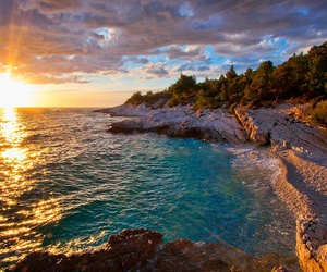beach, beautiful places, and Croatia image