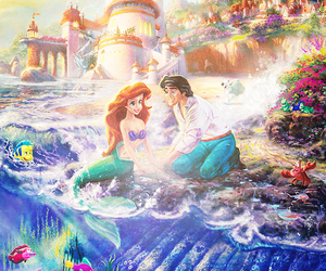 ariel, disney, and prince eric image