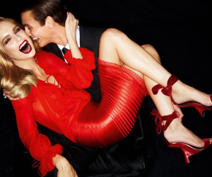 fashion, smile, and red image