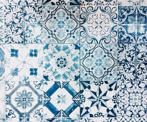 blue, pattern, and tiles image