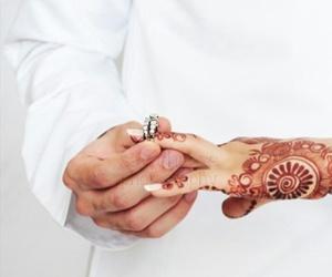 couple, arab, and wedding image