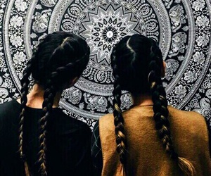 girl, friends, and braid image