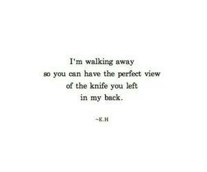 quote, knife, and sad image