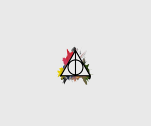 color, deathly hallows, and harry potter image