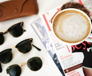 coffee, drink, and ray ban image