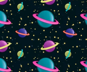 galaxy, planets, and wallpaper image