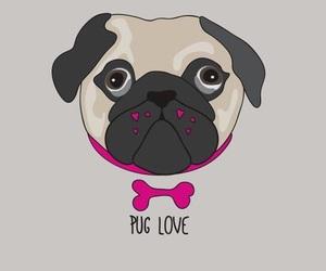 art, pug, and cute image