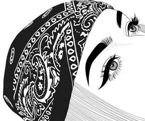 outline, girl, and tumblr image
